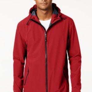 32 Degrees Mens Storm Tech Hooded Rain Jacket